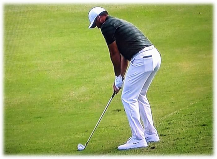 Relaxed Arms Golf Swing