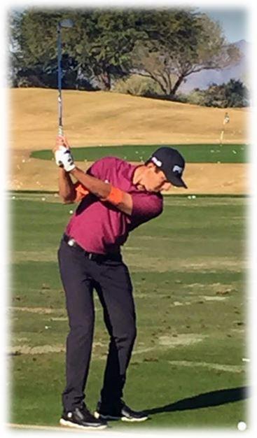 Right Elbow Golf Setup
